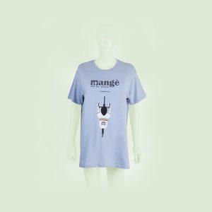 T-shirt con ciclista fronte